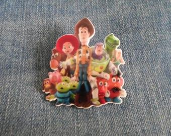 Handmade Toy Story Woody Jessie Buzz Lightyear Rex Pin Badge