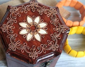 Unusual Wooden box Jewelry box Wood box storage wood wedding box Personalized box Gift box