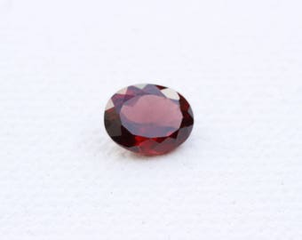 2.3Ct Maroon Garnet Gemstone - Oval Cut Garnet - Natural Garnet Suitable for Pendant / Ring