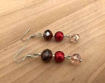 Red Drop Earring | Dangle Earring | Christmas Earring