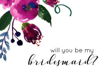 Dahlia Bridesmaid Card