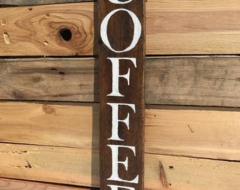 1 in stock, Coffee sign, Small kitchen sign, COFFEE