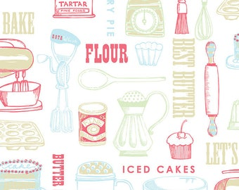 Buttercream cotton fabric by Clothworks