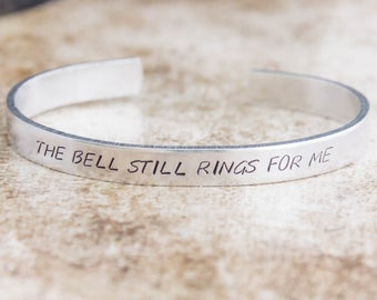 The Bell Still Rings For Me / Literary Gift / Literary Jewelry / Quote Jewelry / Inspirational Quote Jewelry / The Polar Express Jewelry