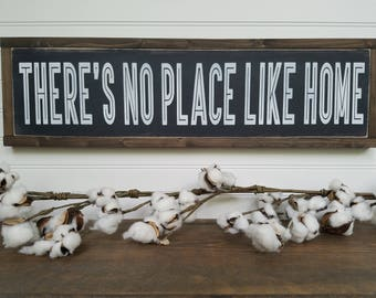 Theres no place like home - Home Decor - Home Wood Sign - Wood Signs - Wooden Signs - Farmhouse Style - Entryway Decor - Rustic Signs