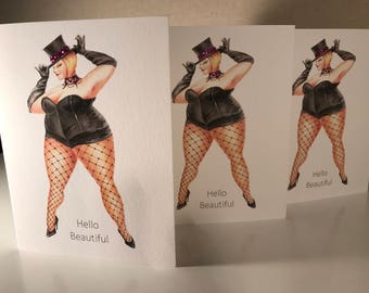 Curvy Girl Note Cards 5 cards for 15 dollars
