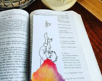 Harry Potter bookmark, quidditch, hogwarts watercolour bookmark, potterhead, bibliophile