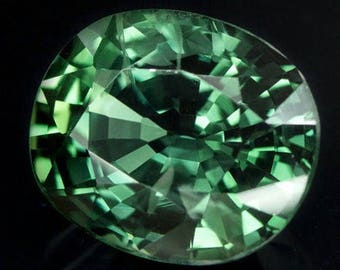 Natural Green Sapphire 2.27 Carats - Untreated - GIA