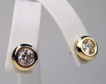14k Gold 1.5 Ctw SI1 diamond stud  earrings #10563