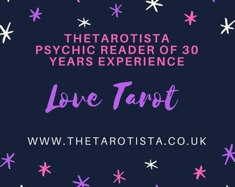 Unrequited Love Tarot Reading, Email & Photo Email Reading by Psychic Reader of 30 Years Experience