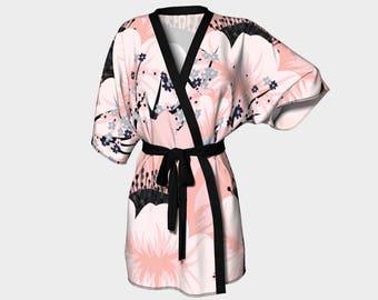 Bridesmaid Gift, Kimono, Kimono Robe, Robes, Floral Robe, Ladies Robe, Bridal Robe, Dressing Gown, Bridal Dressing Gown, Wedding Robe,