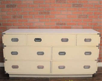 Pick your color! Vintage Furniture Mid Century Dixie Campaign Dresser to be custom painted