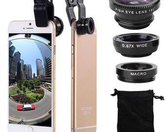 3 in 1 Clip Mobile Phone Lens