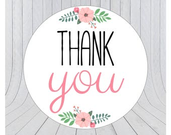 24 x Thank you stickers, thank you labels, packaging labels, packaging stickers, handmade labels, 129