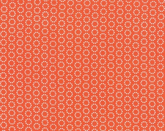 END OF BOLT - 1.5 Yards - Best Day Ever - Pumpkin Dot Matrix Yardage by April Rosenthal for Moda Fabrics  - 100 % cotton - Quilting