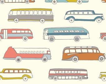 Retro Bus - Trans-Pacific by Jay-Cyn Designs from Birch Fabrics - Organic Fabric - Children Organic Fabric - Birch Organic Fabrics - Cotton