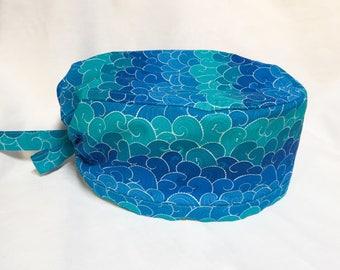 Cuffietta chirurgica - Scrub hat - Onde multicolor
