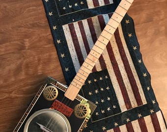 "4 String Cigar Box Guitar ""Voo Doo Blues"""