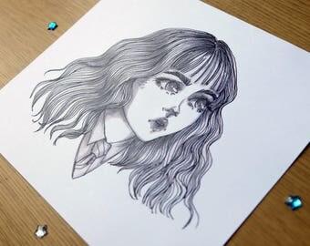Hermione 6'x6,5' Print Black&White