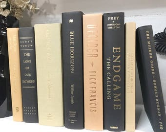 Brown and Black Decorative Book Set