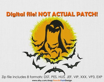 INSTANT DOWNLOAD - Oogie Boogie Bats machine embroidery design. Halloween. Holiday embroidery.  All Hallows' Eve. Embroidery file