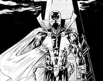 Image Comics Spawn, Ink Drawing