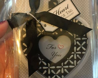 Heart Luggage Tag Favor