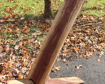 Viking Chair , Celtic or Star Gazing Chair Chainsaw Carved from Walnut