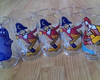 Captain Hook- Ronald McDonald- Grimace McDonald's Glasses 1977