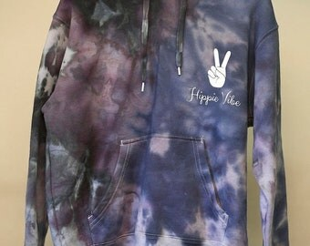 25% OFF ENTIRE SHOP Size 12 - Ready To Ship - Unisex - Children - Kids - Ice Dyed - Hoodie Jumper - 100 Percent Cotton - Polar Fleece - Free