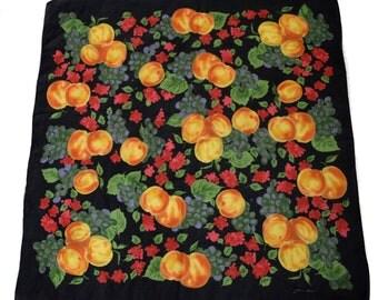 Vintage scarf Jerome Leplat fruits apricots grapes
