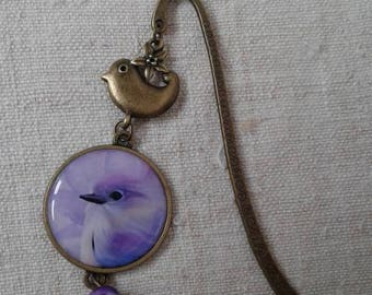 "Bookmark ""pretty purple bird"""