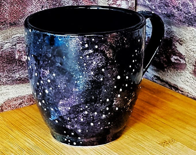 New Mega Mug, Galaxy Style Mugs, Extra Large, Space Galactic Cup, Tea Coffee Lover, 17 Fluid Ounces, Stars Night Sky, Unique Gift Ceramic