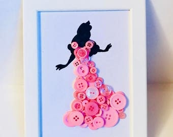 Sleeping Beauty button art. Disney Princess. Perfect gift for her.