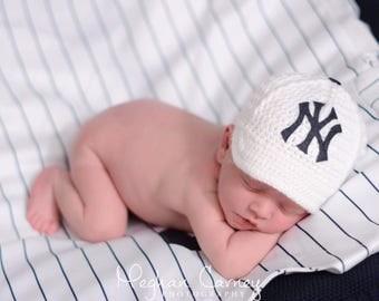 Newborn Baby Baseball Cap, Hat, New York Yankees , Custom Made to Order