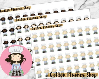 Baking Character Planner Stickers - Sophie and Amanda