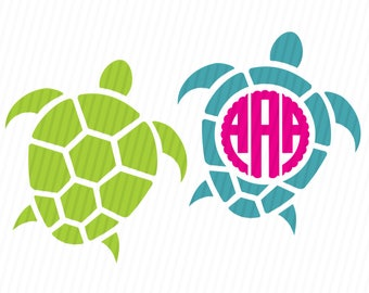 Sea Turtle Monogram SVG, Sea Turtle SVG, Sea Turtle Monogram, SVG Files, Svg, eps, Silhouette Files, Cricut Files
