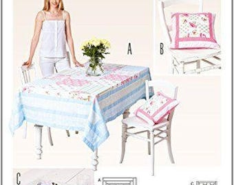 Burda pattern 6823 for patchwork table linens and pillow