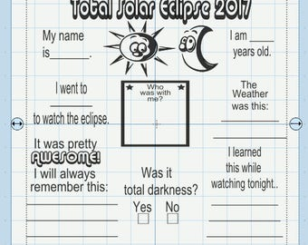 Total Solar Eclipse Memory Board. File includes svg, jpg, png, eps, dxf and pdf.