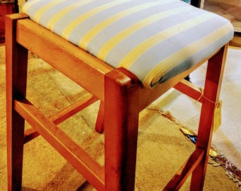 Refurbished kitchen stool from late 60s early 70s