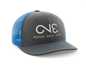 O.N.E. Charcoal Neon Blue Trucker Mesh Back Hat