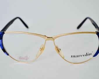 Vintage Marcolin Cat Eye Eyeglasses Frame Mod 7038 Col 521
