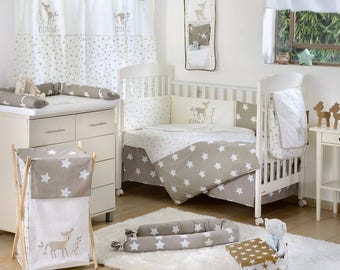 Dearest Bambi Stars 4 Pc Crib Bedding Set