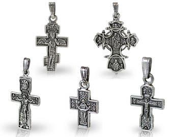 Cast Cross Pendant - Crucifix Pendant - Catholic Crucifix - Catholic Jewelry - Religious Jewelry Jesus Christ Cross Pendant Crucifix Pendant