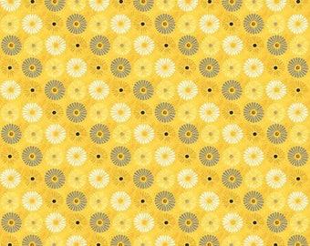 Yellow patchwork WILMINGTONPRINTS FELICITY fabric