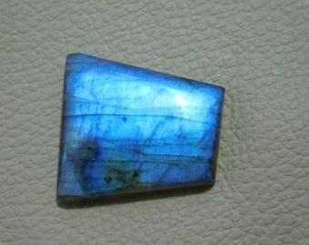 Labradorite Cabochon Loose Gemstone 33.00 Cts  16x22x29 MM Approx Fancy Shape Blue Power Gemstone .