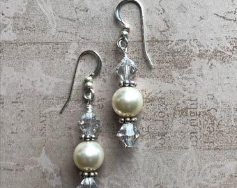 Swarovski Crystal Pearl Earrings