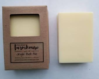 Jingle Bell Ale - Bar Soap - Goat Milk - Farmhouse - Natural Soap - Goat Milk Soap - Handmade Soap - Mens soap - Christmas - Soap for Men