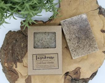 Coffee Vanilla - Bar Soap - Shea Butter - All Natural - Farmhouse - Fresh  - Natural Soap - Coffee Vanilla Shea Butter Soap - Handmade Soap