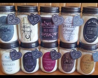 wholesale candle jar etsy. Black Bedroom Furniture Sets. Home Design Ideas